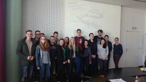 Die Klasse VS14-5 mit Frau Stipkovic bei der VTG AG