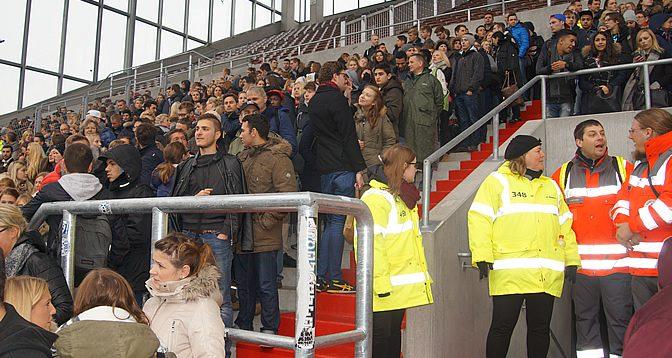 Räumungsübung St. Pauli-Stadion 15.10.15