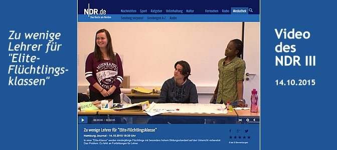 Flüchtlingsklassen im HH-Journal – Video