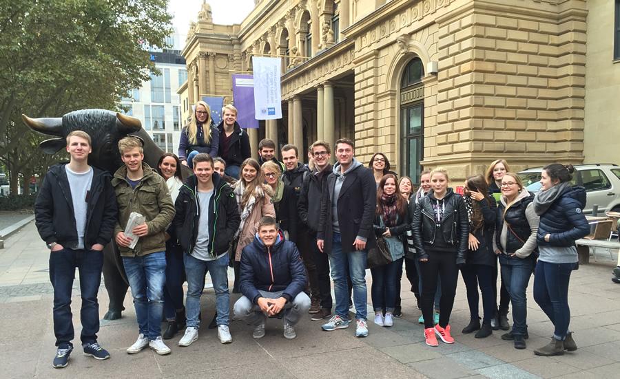 Vor der Frankfurter Börse