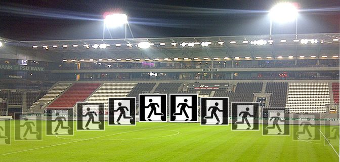 St. Pauli Stadion-Evakuierung Do., 15.10.2015