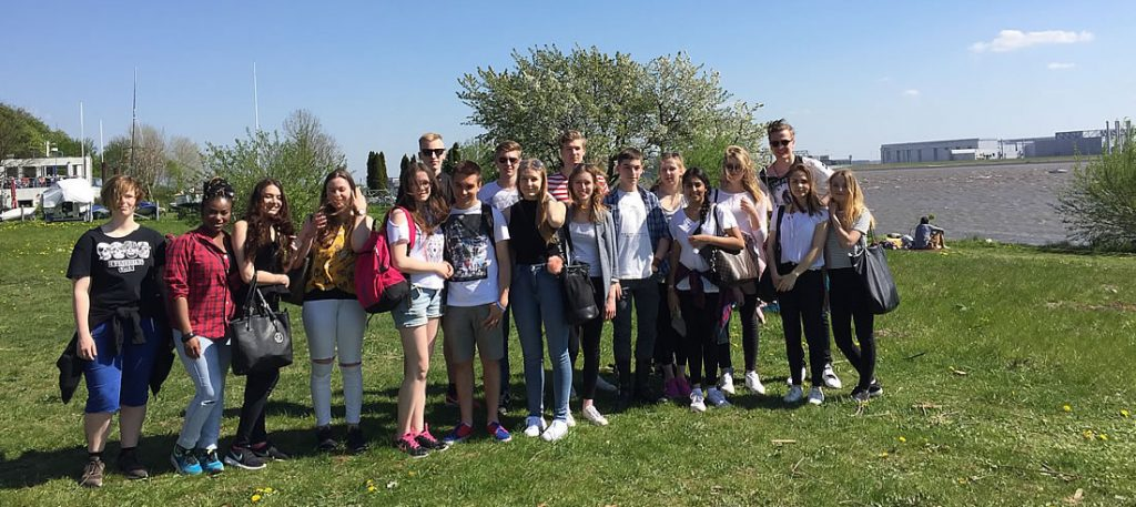 Schüleraustausch Hamburg-Polen 2016 - Ausflug an die Elbe