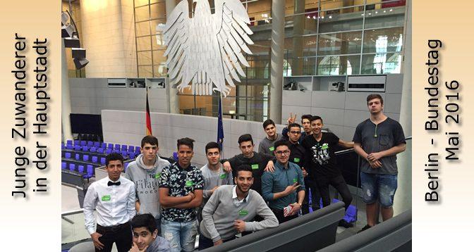 Berlin-Fahrt einer Migrantenklasse