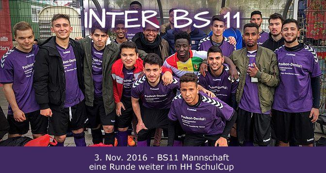 """Die neue """"Inter BS11"""" – Schulmannschaft"""