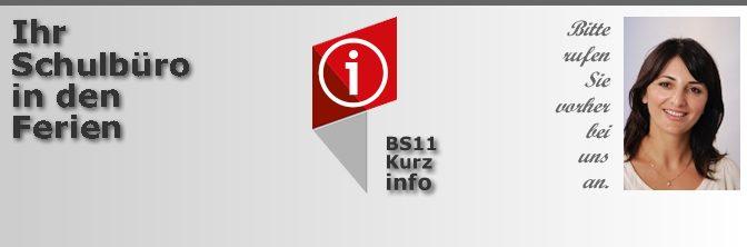 BS11-Schulbüro in den Weihnachtsferien