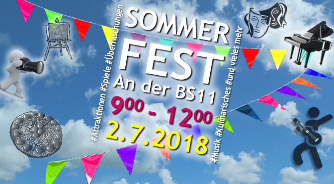 Sommerfest 2018 | 2. Juli | 9.00-12.00 h