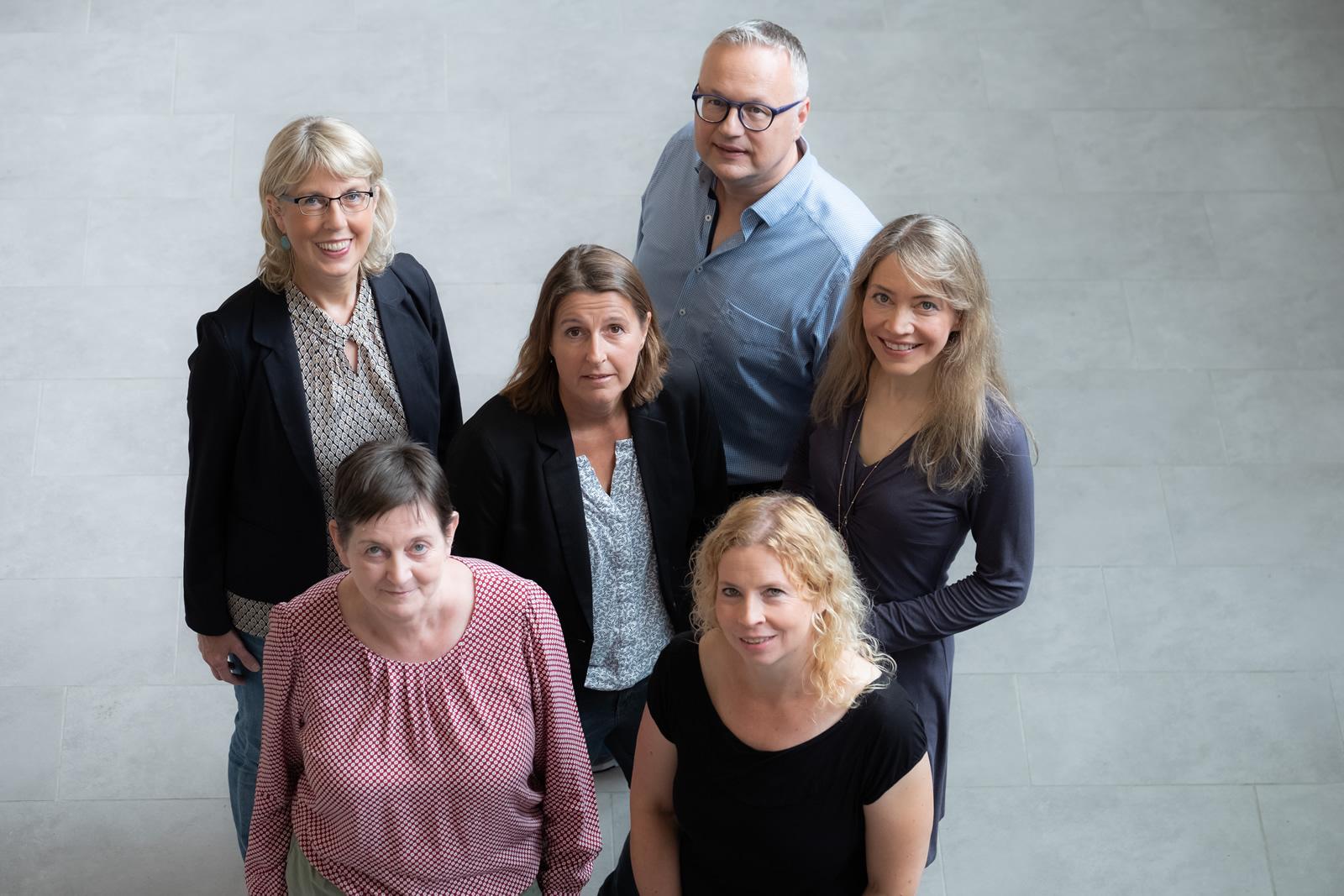 Das BS11 Beratungslehrerteam. Oben: Ute Dewald, Torsten Schatz | Mitte: Sylvia Leid, Manuela Schiele | Unten: Doris Wrage, Ina Schmelzling (v.links n.rechts)